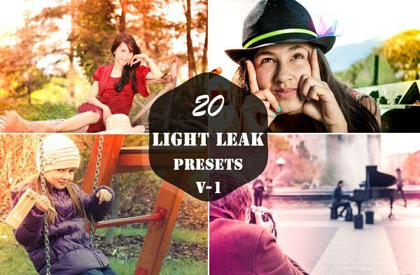 20 Light Leak Lightroom Presets V-1