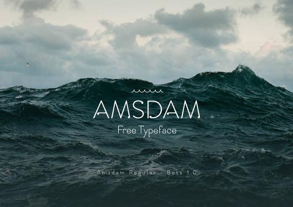 Amsdam Typeface FREE