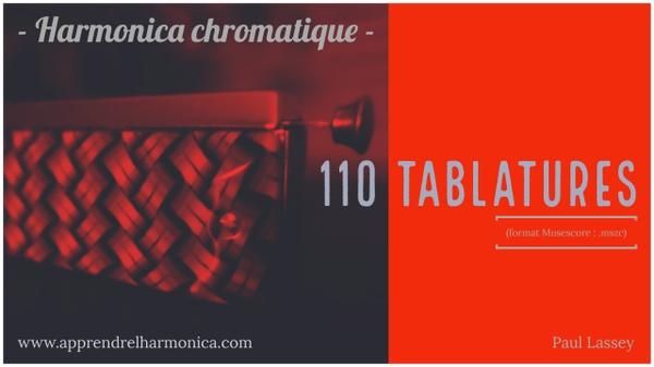 110 Tablatures - Harmonica chromatique - .mscz files