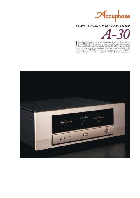 Accuphase A30 Specifications