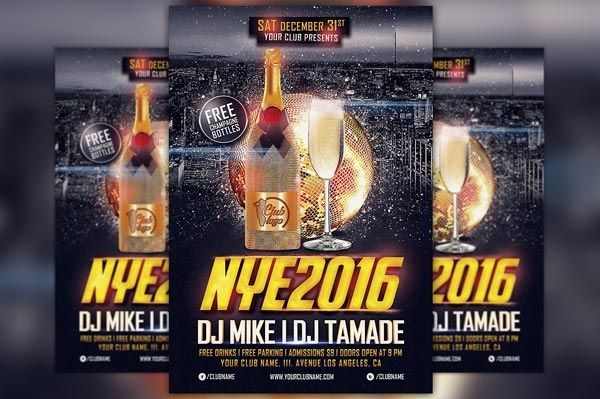 New Years Eve 2016 Flyer Template