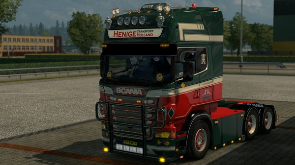 Sunshield for Scania RJL R (Euro Truck Simulator)
