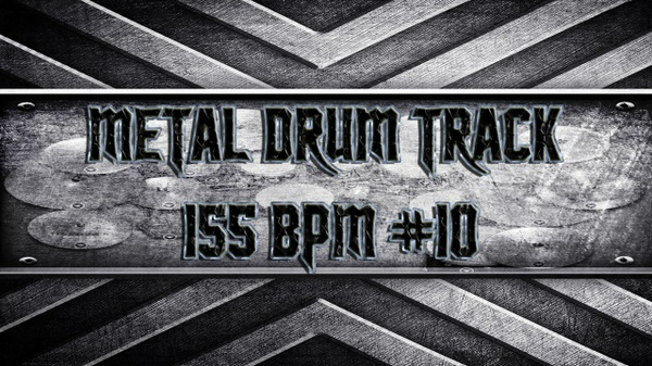 Metal Drum Track 155 BPM #10