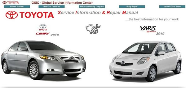 TOYOTA CAMRY & YARIS 2010 WORKSHOP MANUAL GSIC
