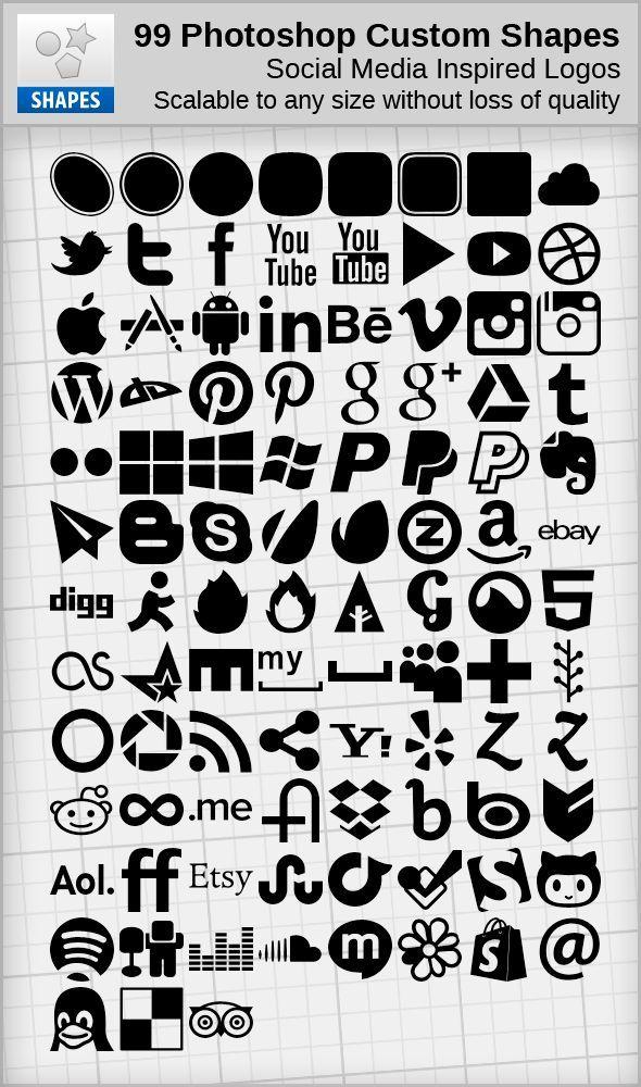 99 Social Media Inspired Shapes