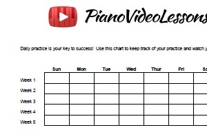 Daily Piano Practice Sheet - FREE Download