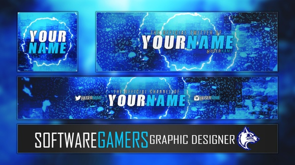 Ultimate Channel Revamp Template (Logo, YouTube Banner/Art, Twitter Banner/Header) V2