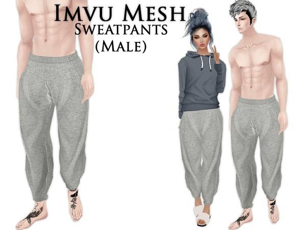 IMVU Mesh - Bottoms - Sweatpants (male)