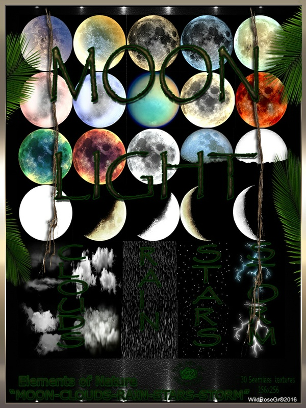 ~ ELEMENTS OF NATURE~ SUMMER EDITION [MOON-CLOUDS-RAIN-STARS-STORM]