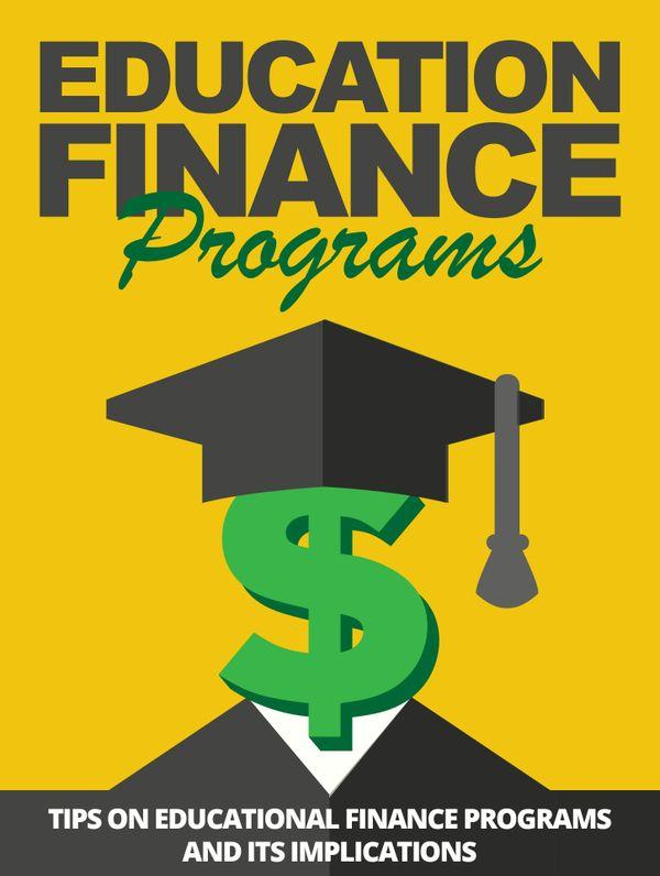 Education Finance Programs