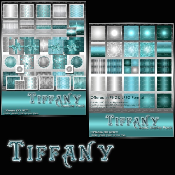 Tiffany Collection Texture Pack-- $6.00