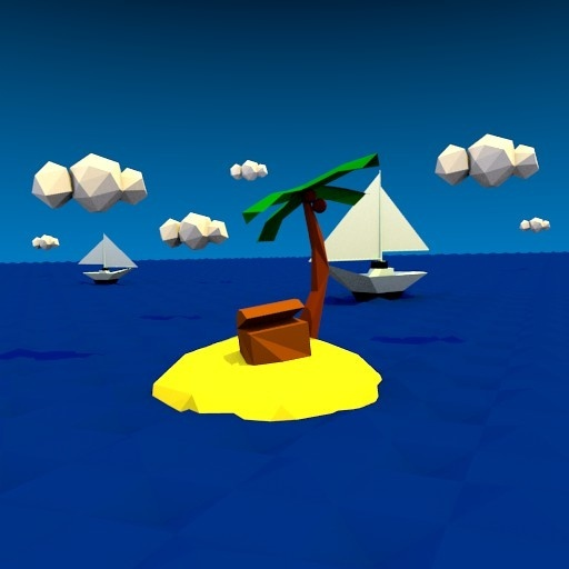 Low-Poly Treasure Island