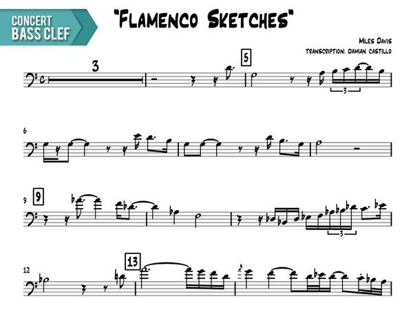 "Miles Davis - ""Flamenco Sketcches"" - Concert Bass Clef"