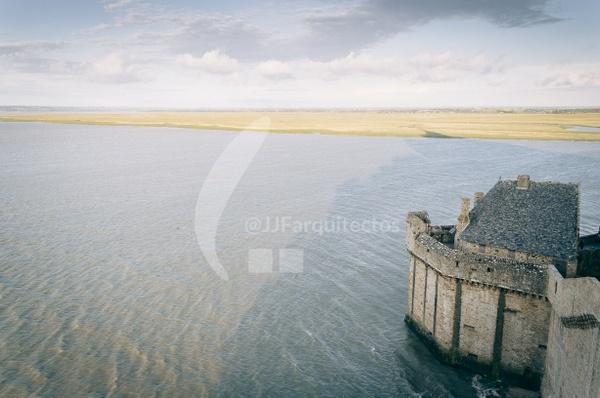 High tide on Mont Saint Michel