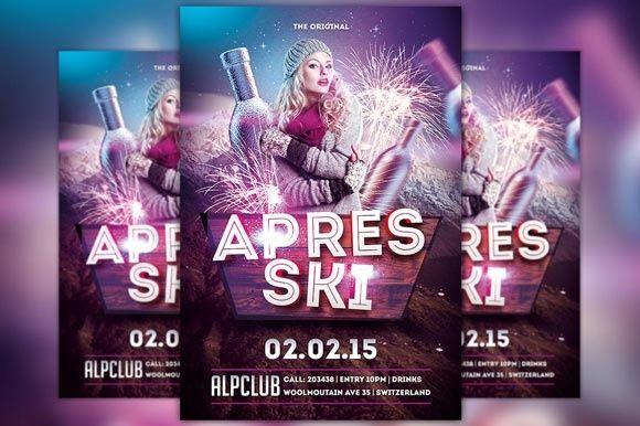 Apres Ski Winter Flyer Template