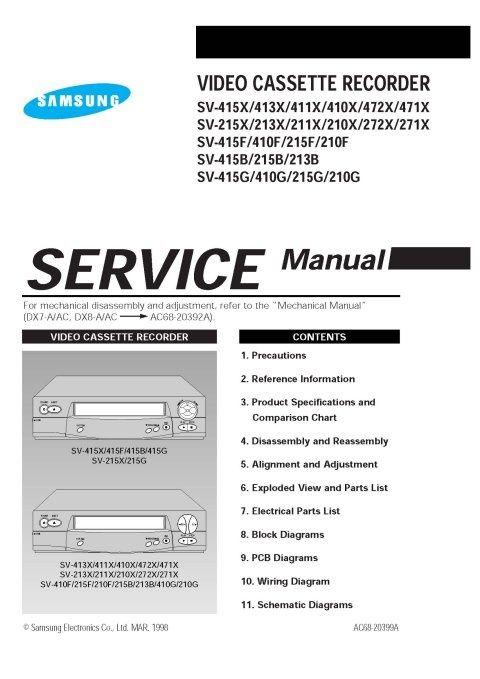 Samsung SV213B Service Manual