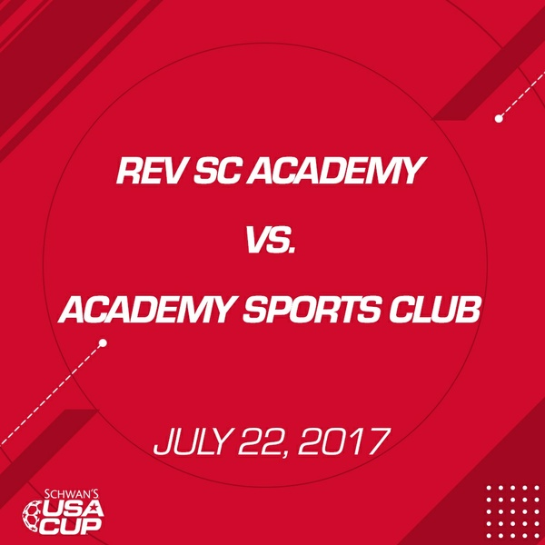 Boys U15 Gold Final - July 22, 2017 - Rev SC Academy vs Academy Sports Club