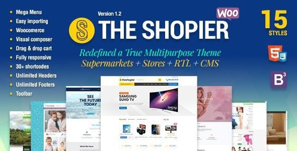 ThemeForest - Shopier v1.4.0 - Responsive Multipurpose WordPress WooCommerce Theme