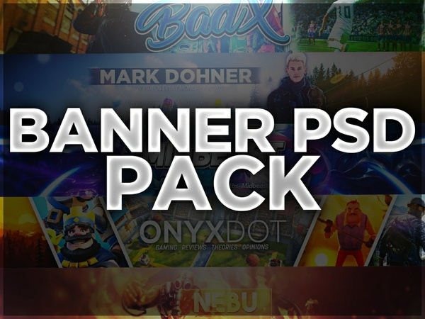 5 Banners PSD Pack