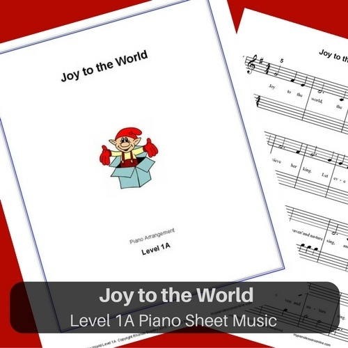 Joy to the World sheet music level 1A