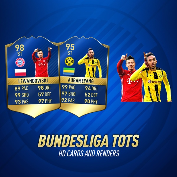 FIFA 17 BUNDESLIGA TOTS HD CARDS AND RENDERS