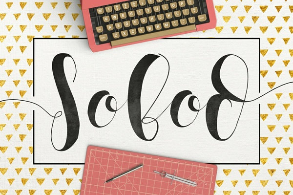 Sobod Typeface Bonus Pattern
