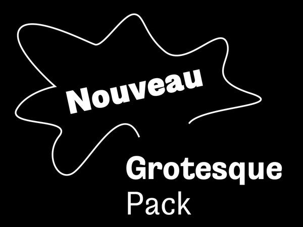 Nouveau Grotesque Family Pack (4 Fonts) Desktop 1-3 User