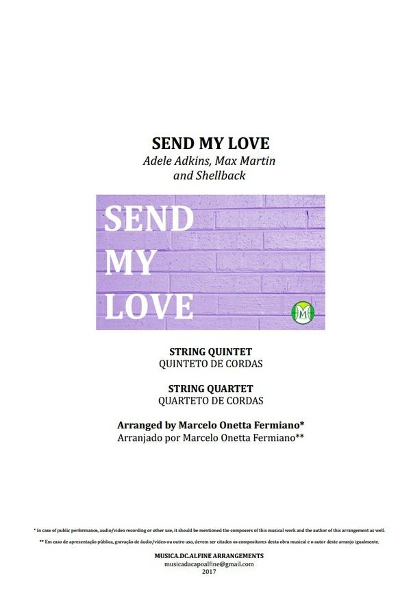Send My Love | Adele | String Quartet or String Quintet | Score and Parts