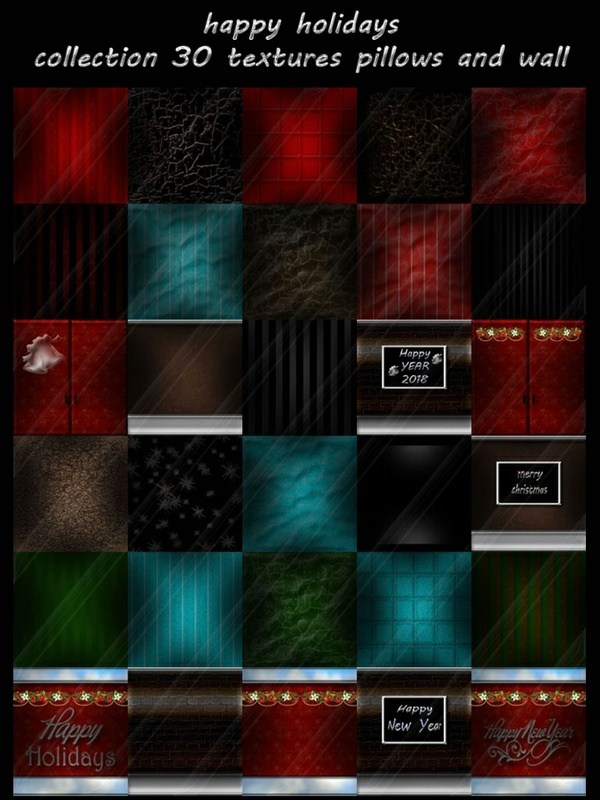 happy holidays collection 30 textures for imvu pillows and wall