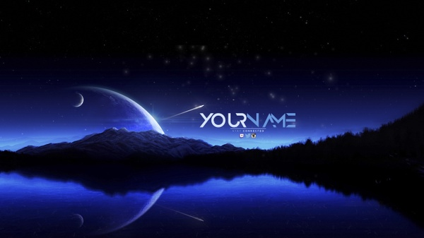 Night Sky YouTube Channel Banner Template