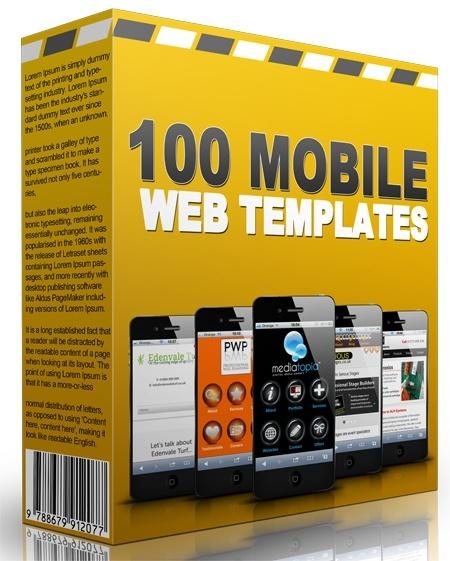 100 Mobile Web Templates