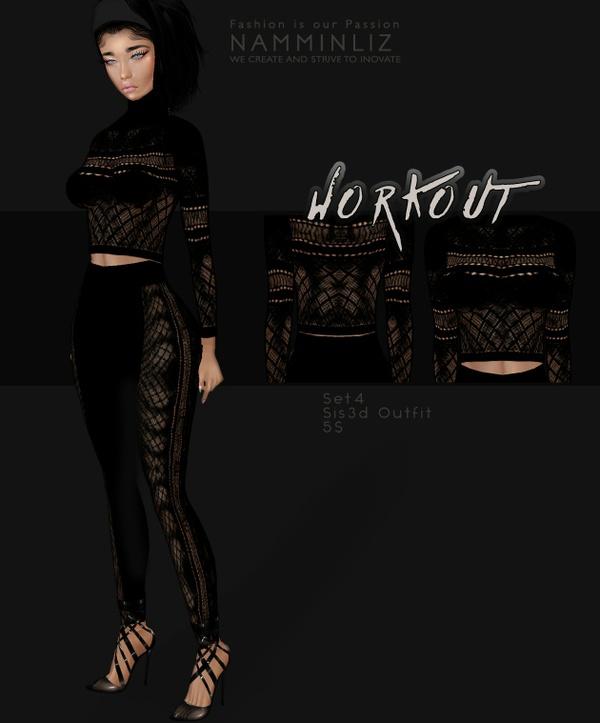 WorkOut Set4  Sis3d Outfit imvu