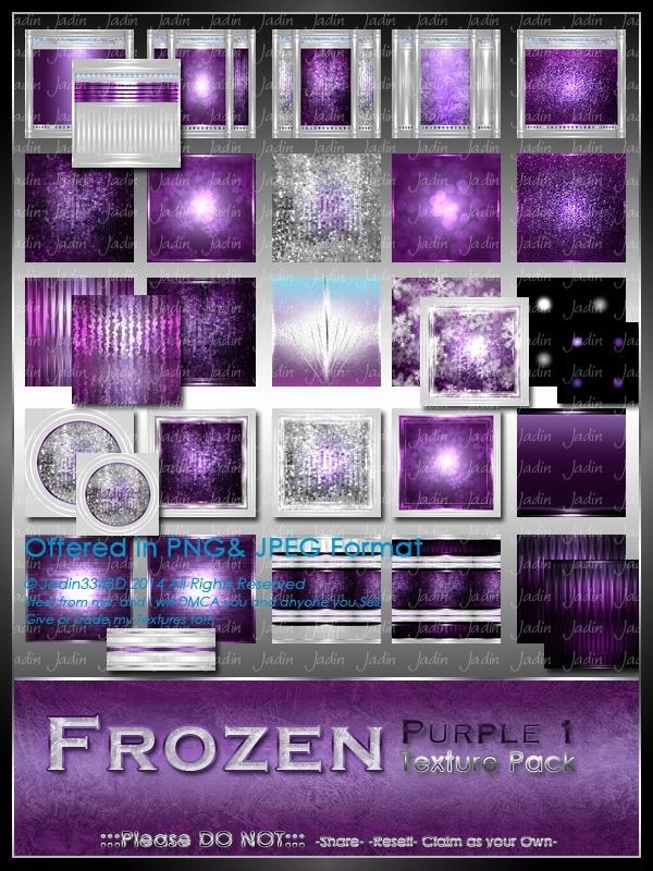 Frozen: Purple-1 Texture Pack-- $4.00