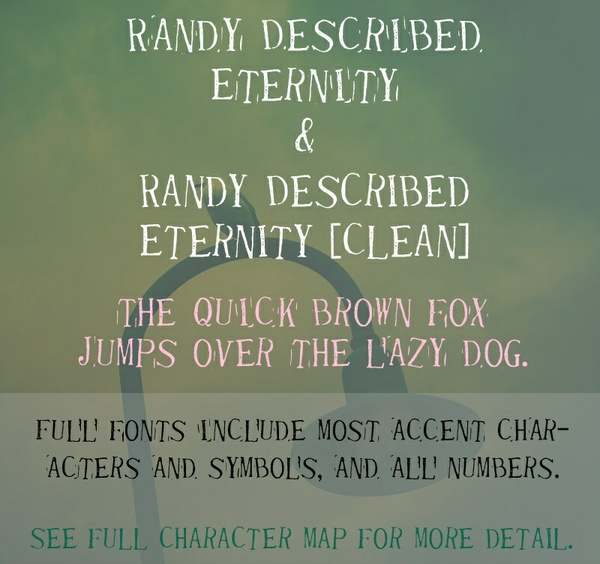 Randy Described Eternity Font - General Commercial License