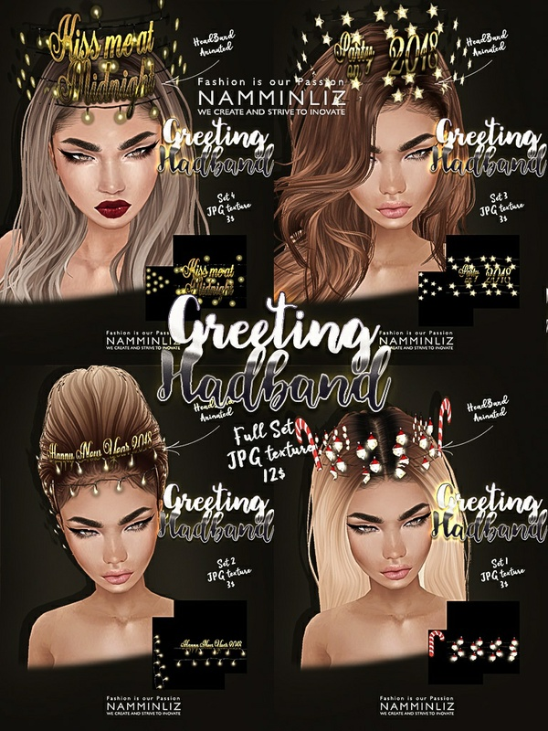 Greeting headband Full set imvu texture JPG NAMMINLIZ filesale