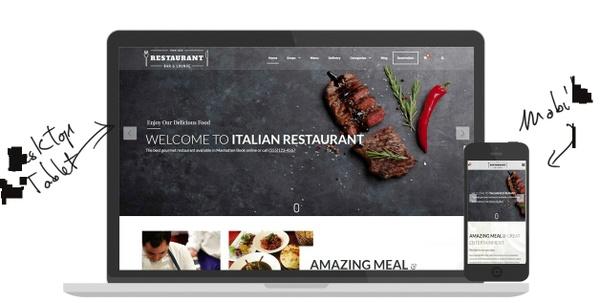 Restaurant Blogger Template - Professional E-commerce Blogger Template 2017