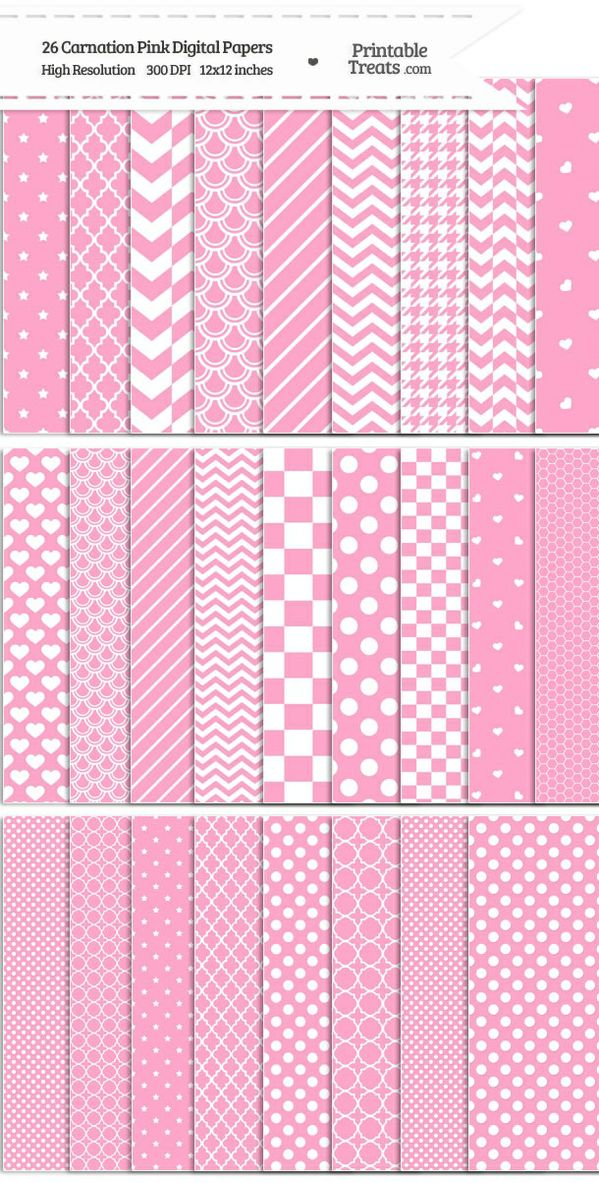 26 Carnation Pink Digital Paper Set Password