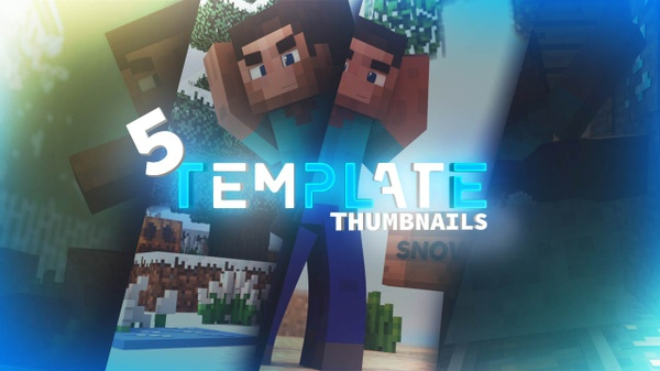 [C4D] 5 TEMPLATES THUMBNAILS MINECRAFT !