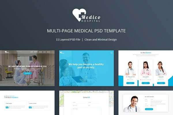 Medico Multipage Medical PSD Template