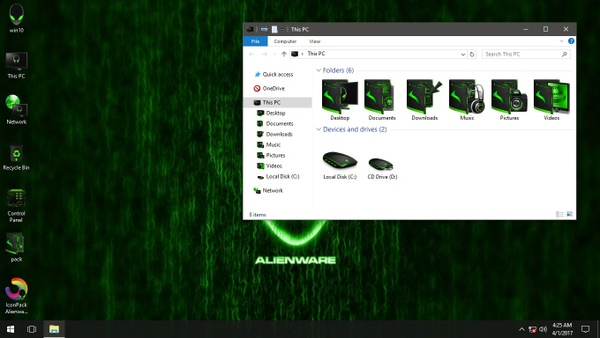 Alienware Advanced Green IconPack