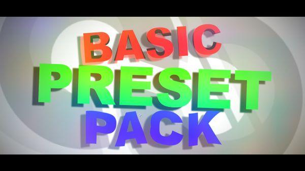 Preset Pack [The Basics]