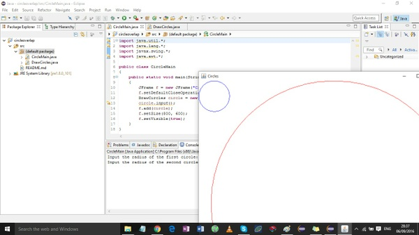 Lab 3 - Decisions - CircleOverlap