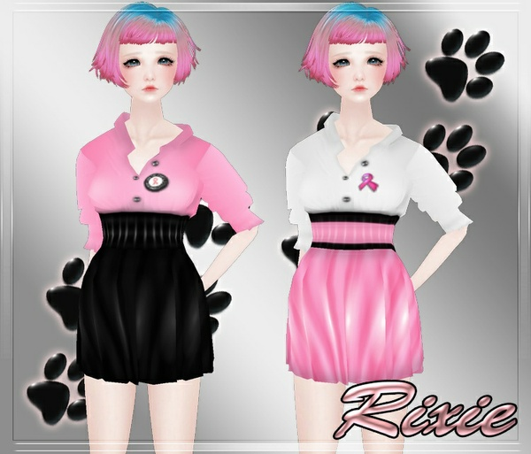 Breast Cancer Dress Set. Only to 3 ppl 0/3 W/Resell Rights