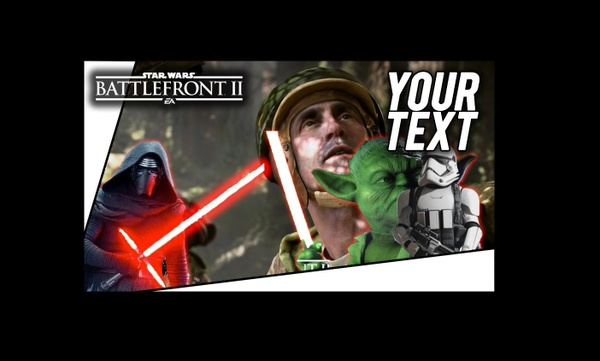 Star Wars Battlefront 2 Thumbnail Template - PSD