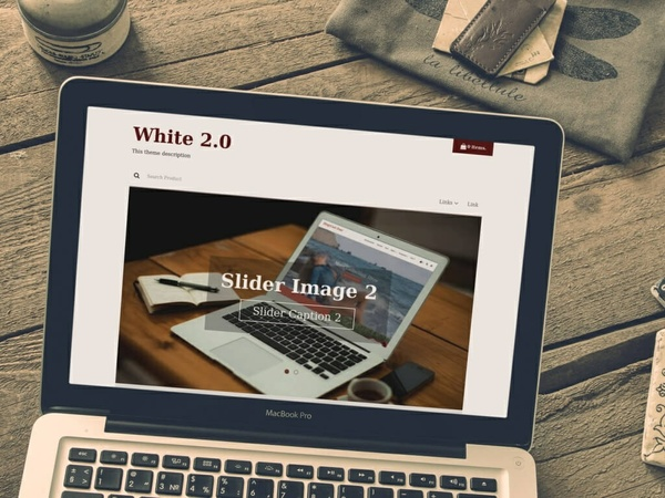 BlogrCart WHITE (PRO v2) - Ecommerce Inspired Blogger Template with Shopping Cart