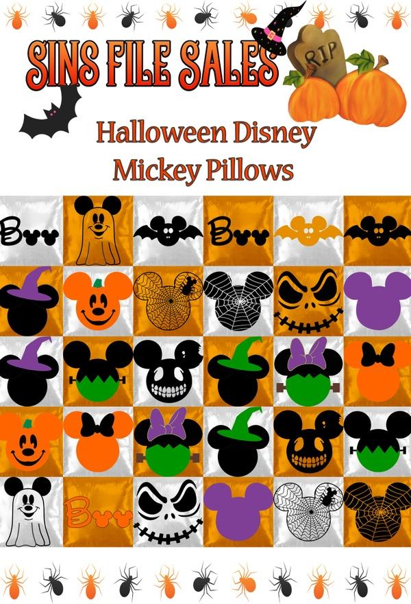 Halloween Disney Mickey Pillows