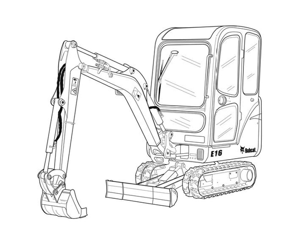 Bobcat E16 Compact Excavator Service Repair Manual Download(S/N AHLL11001 & Above)