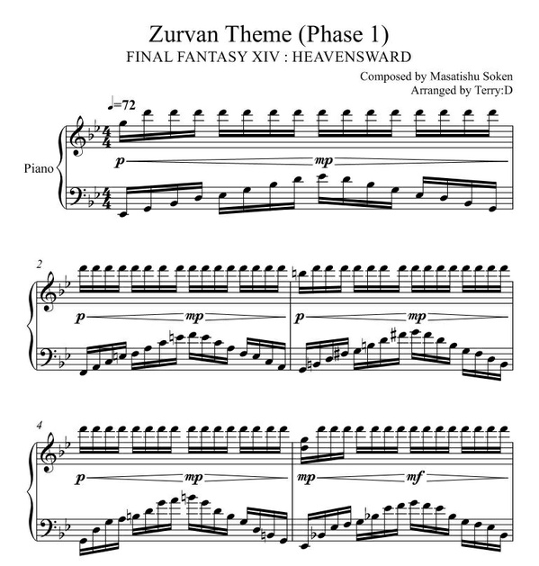 Final Fantasy XIV - Zurvan's Theme phase1 (Arr.by Terry:D)