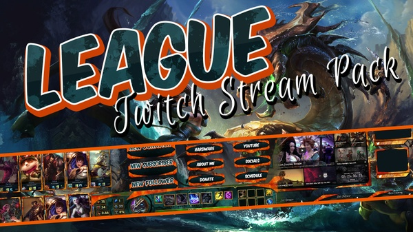 League of Legend Twitch stream pack - FireSplash
