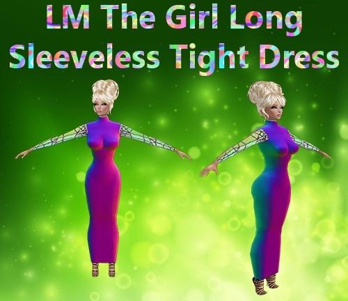 Long Sleeveless Tight Dress Mesh Catty Only!!!